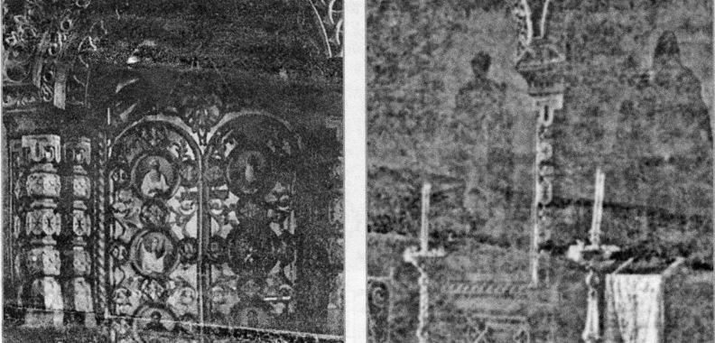 Стефановский храм изнутри. Дата снимка: начало XX века. Источник: oldsyktyvkar